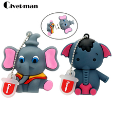 New Pen Drive USB 2.0 Elephant Pendrive 64GB Flash Drive USB Flash Drive Pen Stick Memory U Disk 8GB 16GB 32GB External Storage