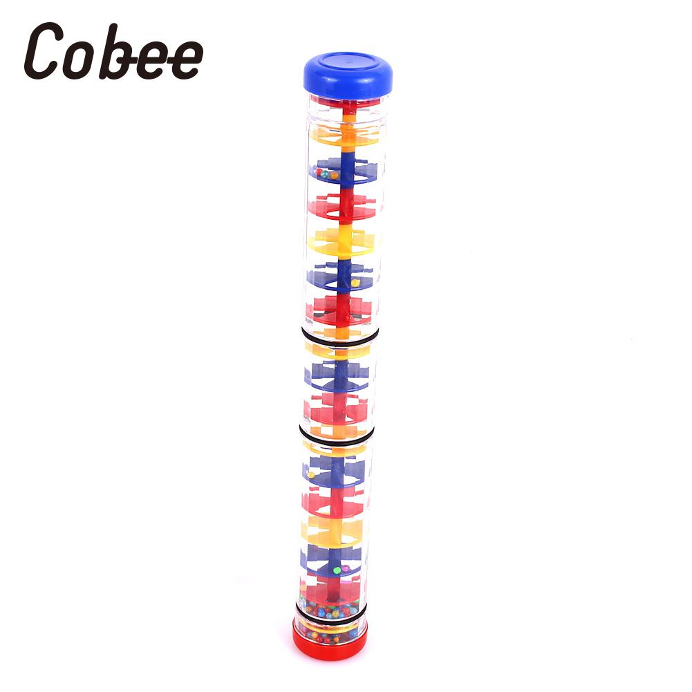 Rain Stick Rainmaker Toy Rain Sound Tube Four-Section Music Colorful Early Education Training Durable Plastic