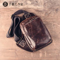 Retro first layer of leather men 's men' s shoulder bag diagonal cross - package casual package crazy Madpina travel backpack