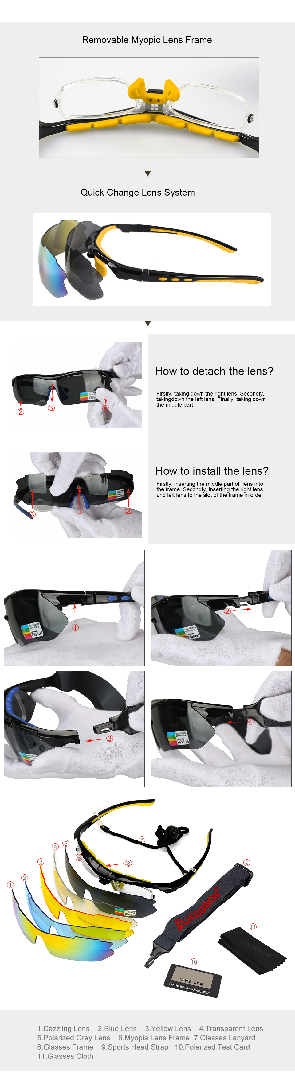 e0a927d1e8b 1013 01 1013 02 1013 03 1013 04. Package Included  1 Glasses Frame with a Polarized  Lens