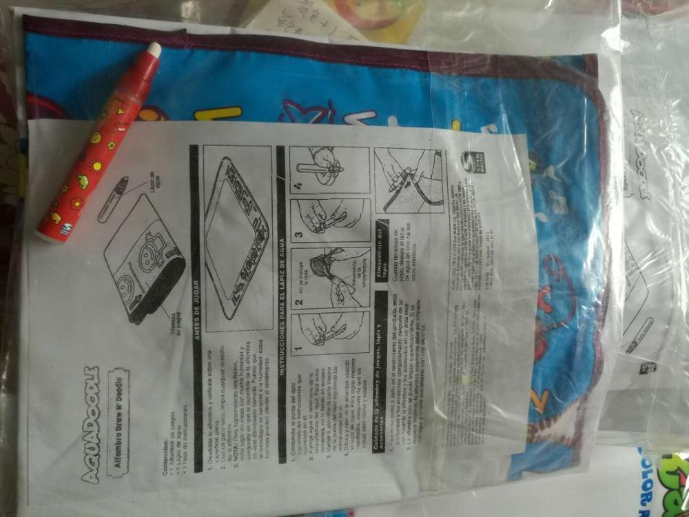 Большой размер 80*56& 75*75 см Американский коврик для рисования водой каракули Мат и 1 волшебная ручка - Цвет: Синий