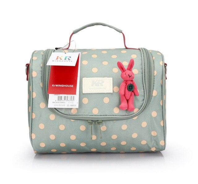 Women's handbag messenger bag nappy bag storage bag portable messenger bag polka dot cartoon travel