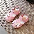 SKHEK марка 2017 высокое качество говядины сухожилие пу верхняя дышащий нескользящей летом женская обувь сандалии цветок сандалии четыре цвета