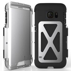Image 2 - R Nur Eisen Männer Flip Telefon Fall Shock Proof Mode Stahl Metall Rüstung Fall für Samsung S9 S8 Plus s6 S7 Rand Hinweis 9 8 5 4 3 2