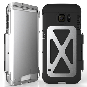 Image 2 - R just funda de teléfono con tapa para hombre, a prueba de golpes, armadura de Metal de acero a la moda para Samsung S9 S8 Plus S7 S6 Edge Note 9 8 5 4 3 2