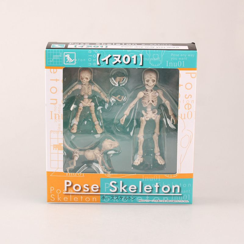 Mr. Bones <font><b>Pose</b></font> <font><b>Skeleton</b></font> Model with Dog Table Desk Book PVC Figure kids Toys Collectible Gift KT3541 image