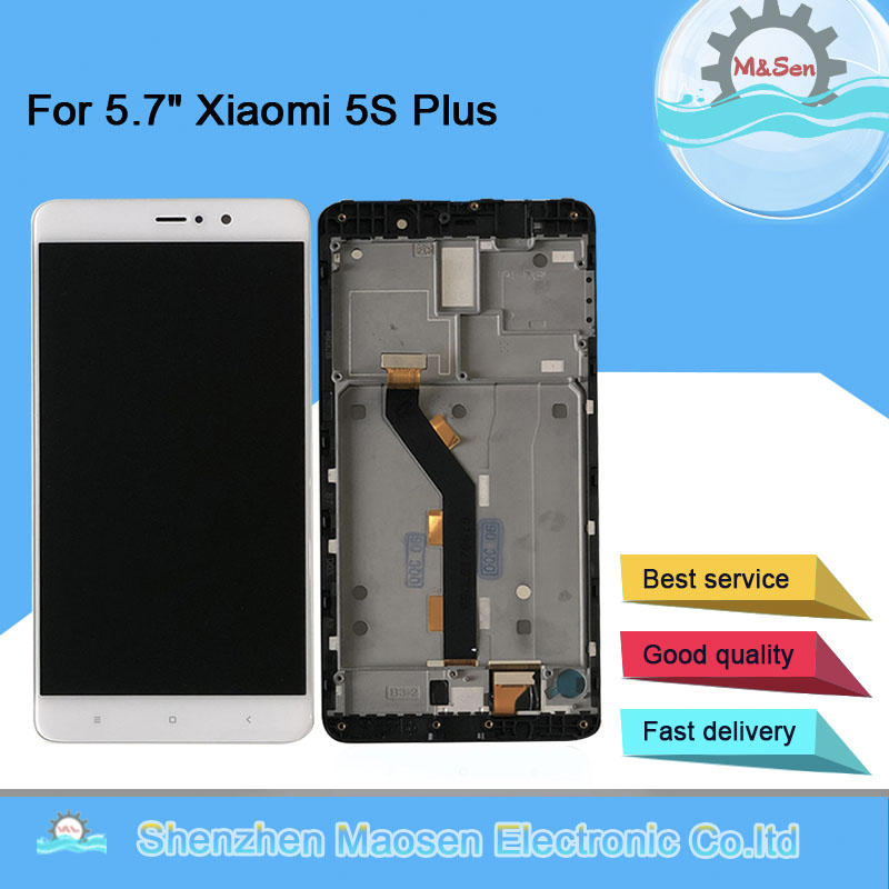 "5.7"" Original M&Sen For Xiaomi 5S Plus Mi 5S Plus Mi5S Plus LCD Screen Display+Touch Panel Digitizer Frame For Xiaomi Mi 5S Plus
