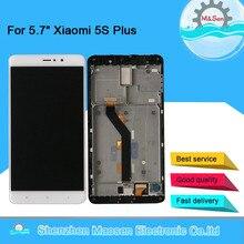 "5.7 ""Originele M & Sen Voor Xiao Mi 5S Plus Mi 5S Plus Mi5S Plus Lcd scherm + touch Panel Digitizer Frame Voor Xiaomi Mi 5S Plus"