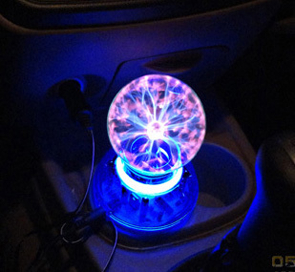 US $46 63 |Magic Plasma Ball Lamp Dream Crystal Neon Sphere Negative Ion  Generator Car Interior Light Music Voice Sound Control Lightning-in Novelty