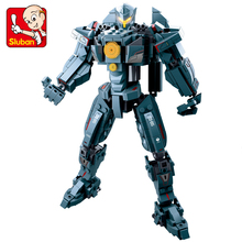 Pacific Rim Jaeger Gipsy Danger and Battle Damage Gipsy Danger Action Figures Collectible Legoes Building Blocks Model Toy Gift цена
