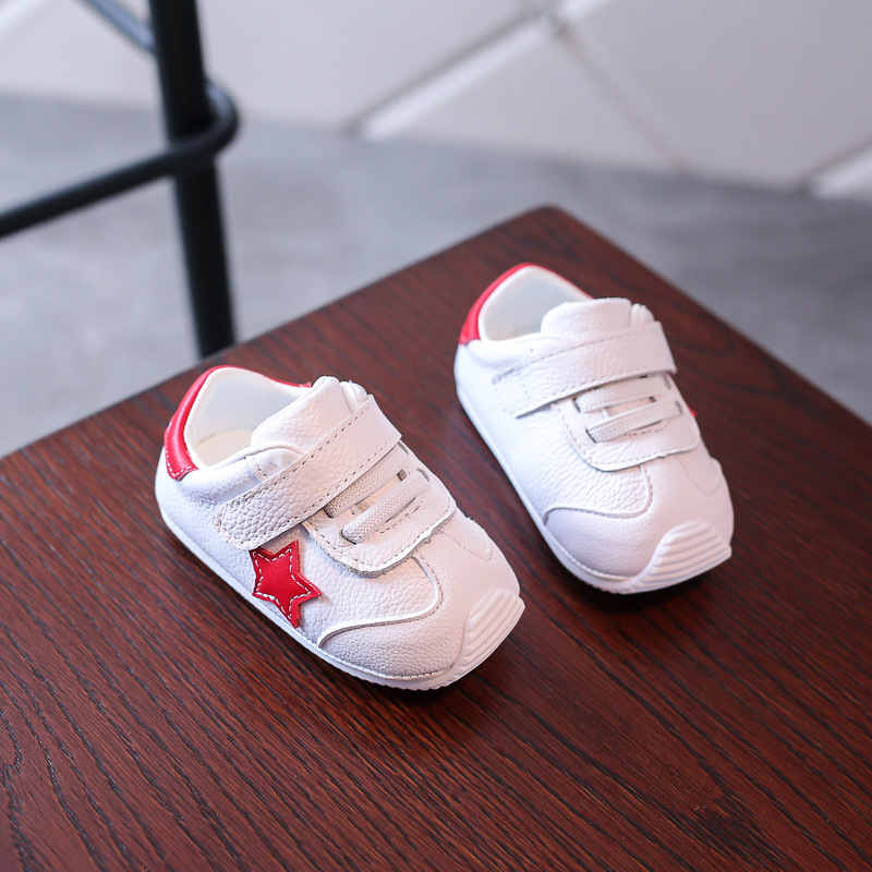 baby shoes Genuine Leather kids loafers little boys white shoes Girls frist walker Casual Sneaker Soft Sole Todder Infant Shoes