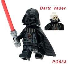 Pg633 Супер Герои Legoelys Звездные войны Дарт Вейдер люк Лея Скайуокер Хан Solo Кирпичи Строительные блоки детские игрушки распродажа