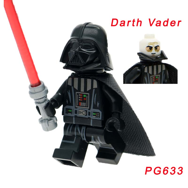 Pg633 Super Heroes Legoelys Star Wars Darth Vader Luke Leia Skywalker Han Solo Bricks Building Blocks Children Toys Single Sale