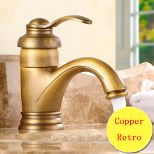 цена на Retro teapot style toilet basin faucet vintage, Copper bathroom basin faucet hot and cold, Antique brass kitchen basin faucet