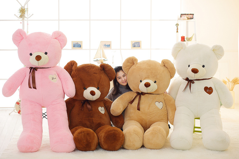 kawaii 180cm soft toy teddy bear Stuffed Toys for girls 71inch Plush animals doll pillow Kids toys chinese new year 2018 present