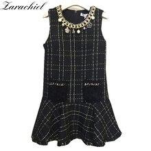 05456cb8 Popularne Tweed Black Dresses- kupuj tanie Tweed Black Dresses ...
