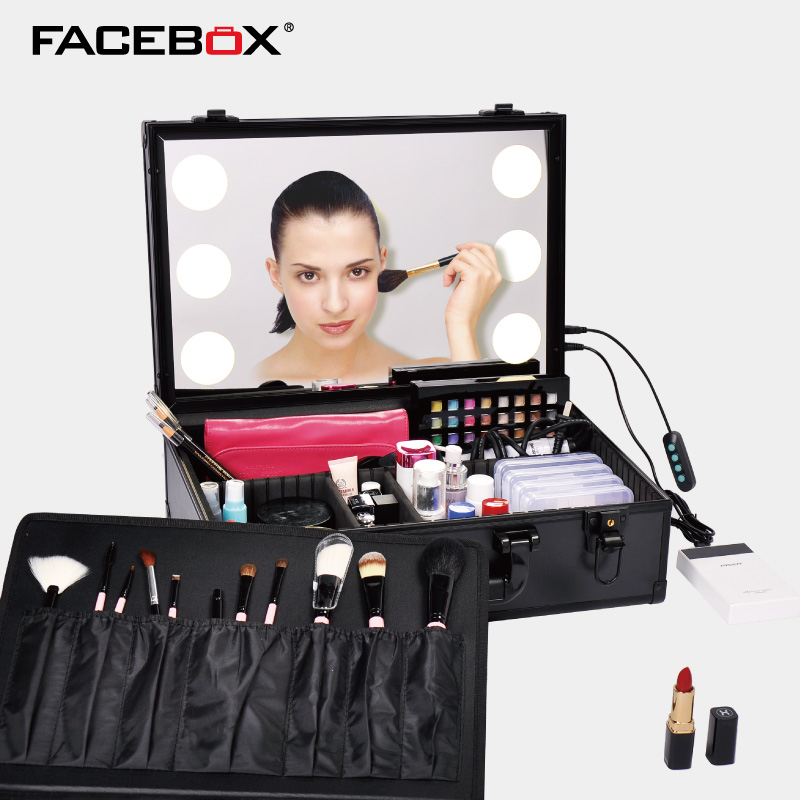 6 Type New Adjustable Led Lighted Makeup Box Beauty Case