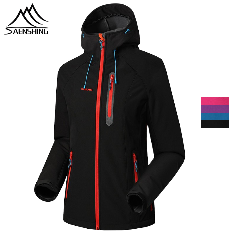 SAENSHING Softshell Jacket Women Brand Waterproof Jackets Rain Coat Outdoor Hiking Clothing Female Windproof Soft Shell Fleece