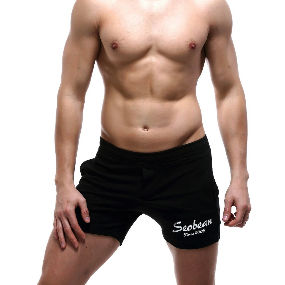 SEOBEAN New Men's shorts casual summer beach Small boxer cotton shorts