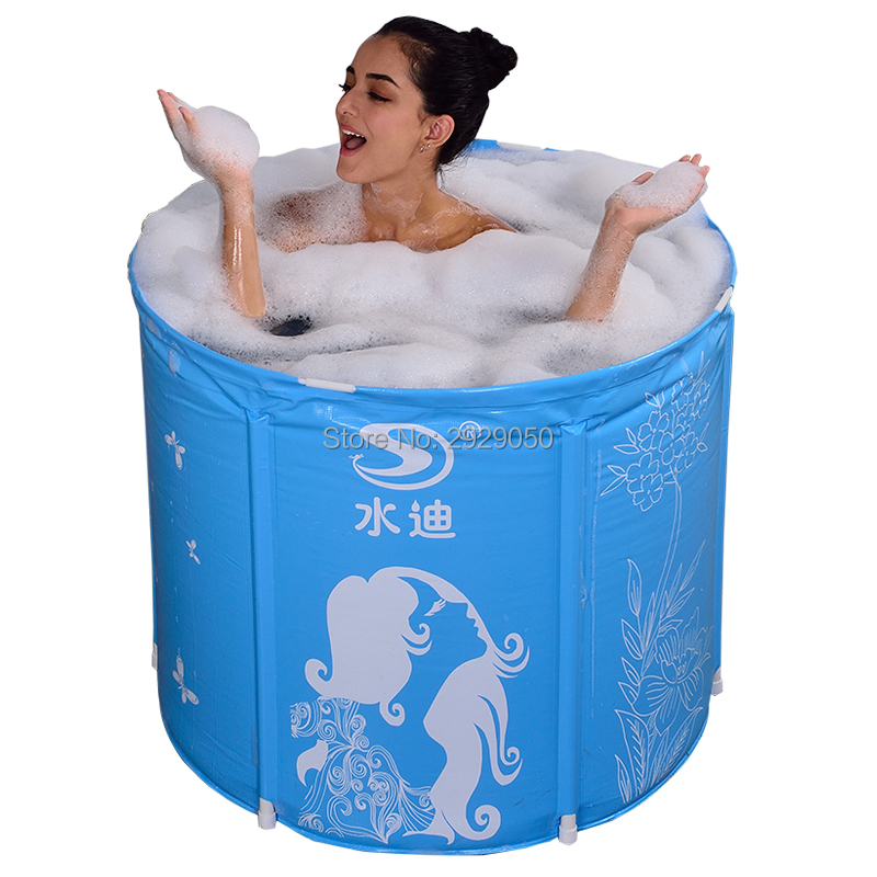 With Pump Water Thickening Folding Tub Adult Bathtub Inflatable Bath Bucket Do not inflate the tub Portable tub| | |  - title=