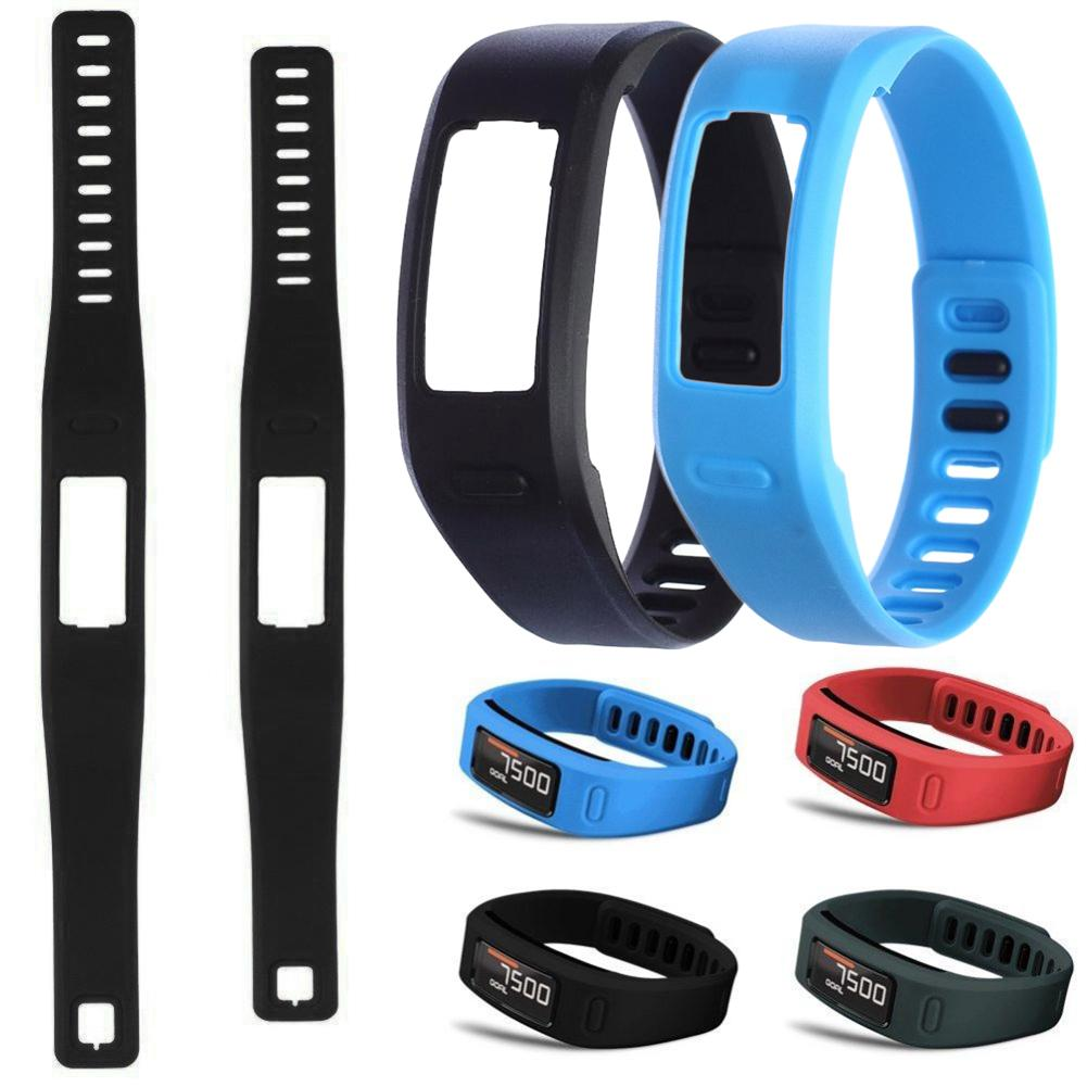New Comfortable Silicone Replacement Watch Strap With Clasp For Garmin Vivofit 1 Smart Bracelet Watch Band 2 Size Replace