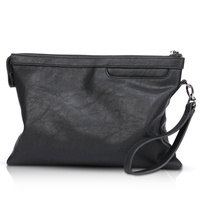 2018 New Fashion Brand Design Men's Clutch Bag Large capacity Casual Male Bags Wallet Purse Soft Leather Phone bag for iPad