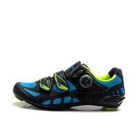 R1502D TIEBAO נעלי Outsole חיצוני & שיעור ספינינג סיבי פחמן קל משקל אופני כביש נעלי רכיבה על אופניים נעלי מערכת אבזם סיבובי