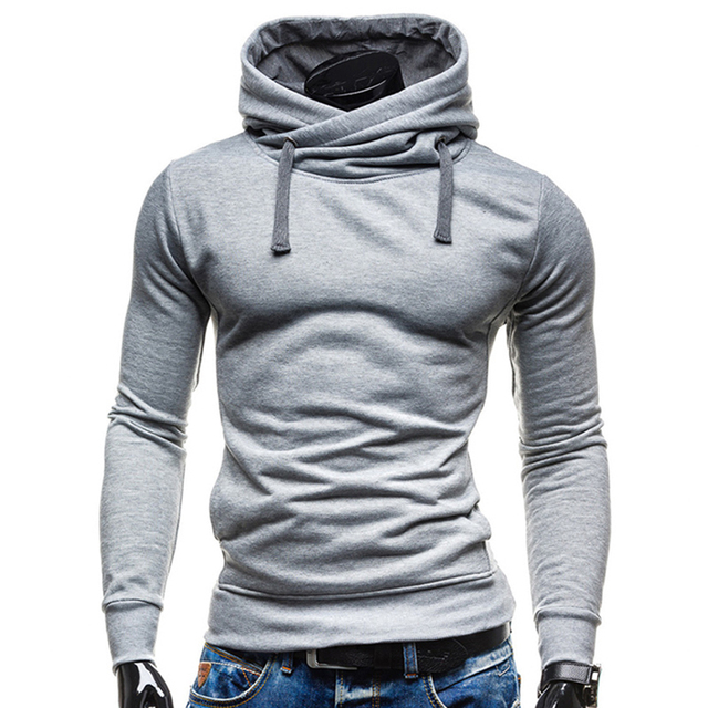 T bird Hoodies Men Moleton Masculino Mens Brand Solid Color Turtleneck Pullover Hoodie Sweatshirt Slim Fit Men Hoody Sportswear