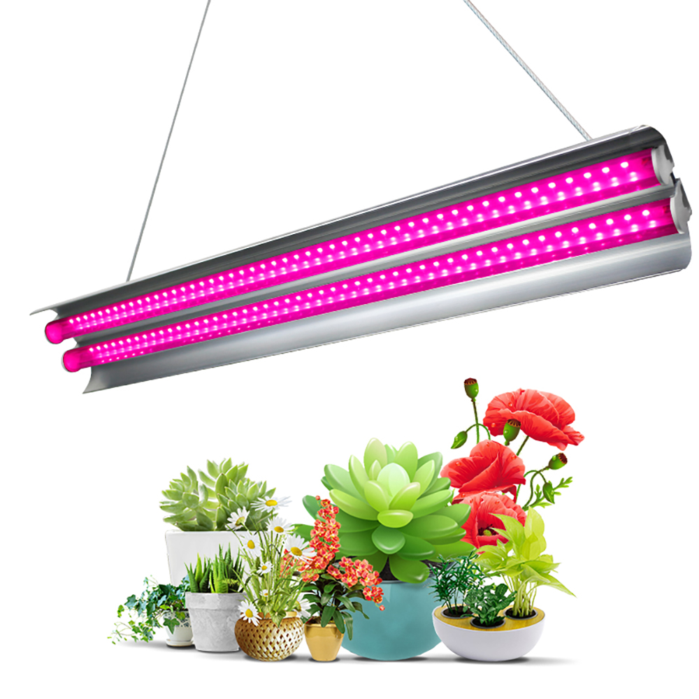 2ft LED Grow Light Double Tubes Full Spectrum 60W Growing Lamp For Greenhouse Hydroponics Light Indoor Plant Veg And Flower