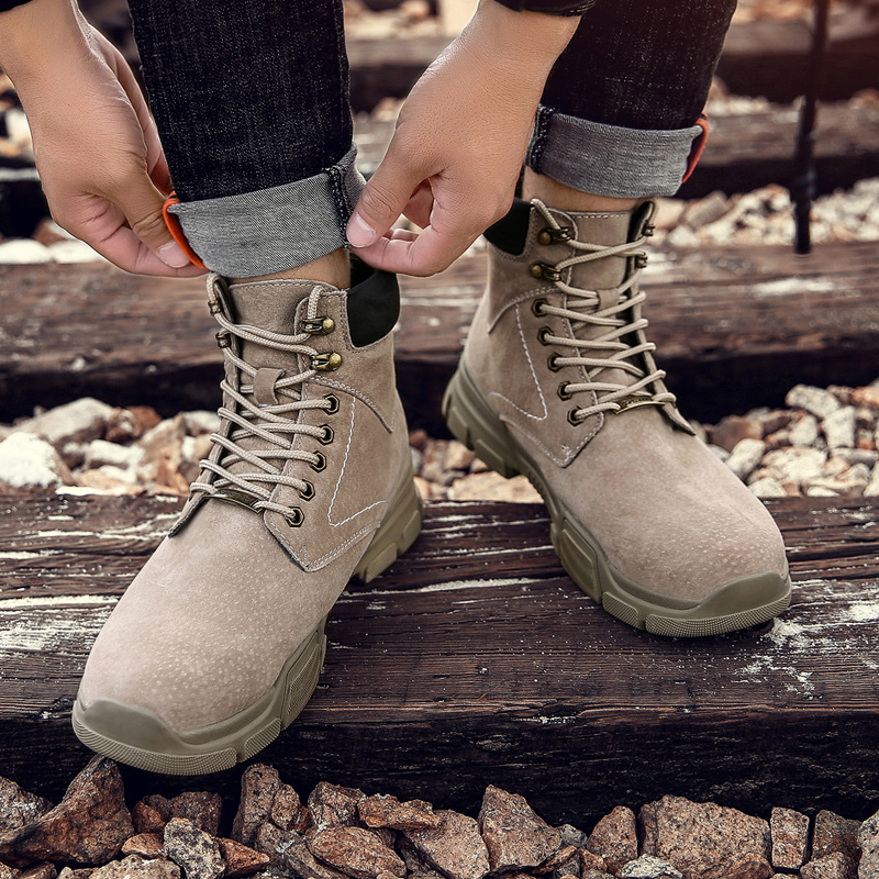 Bottes cinza Sapatos Bege Homens Ao verde Casuais Inverno Desgaste Homme Escuro Outono Northmarch preto Livre verde Dos Exército resistente De Tornozelo Couro cinza Botas Ar Confortáveis RUPaq