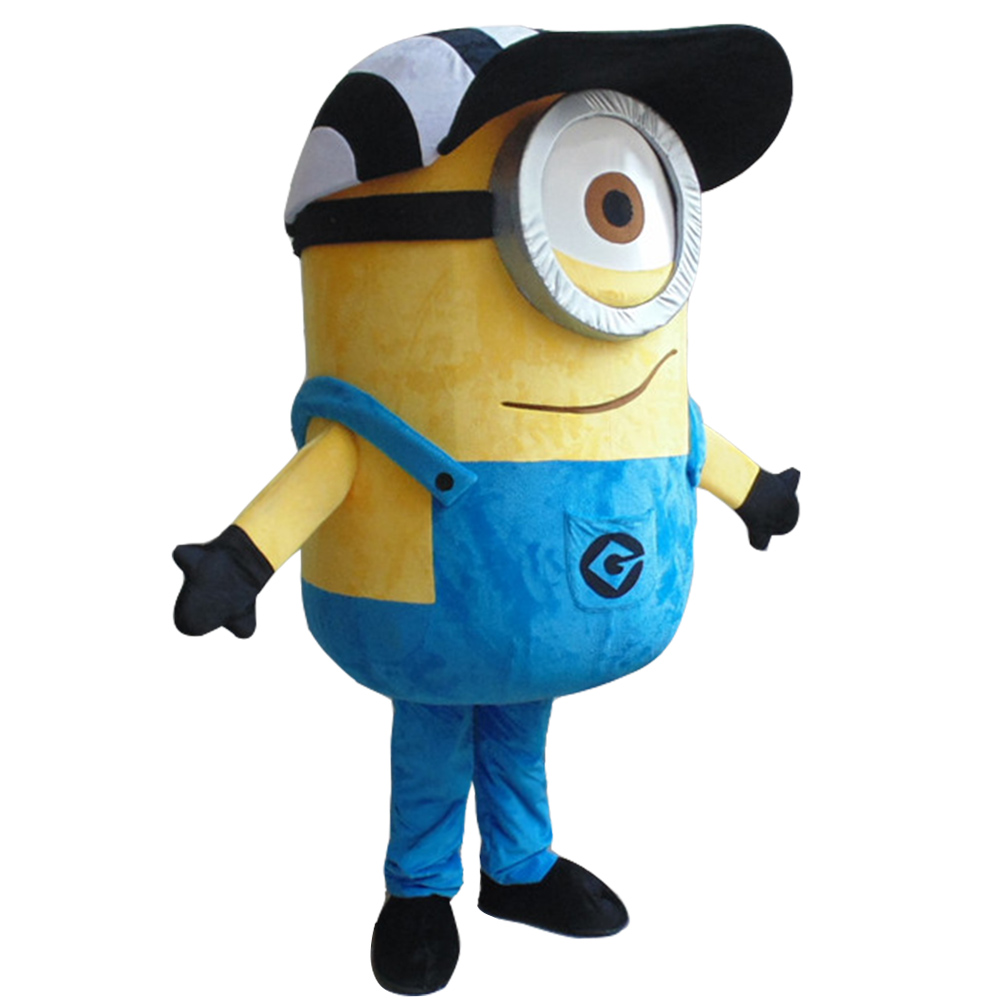 cosplay kostuums Gratis verzending EPE Minion Mascot Costume, mean Mascot Costume