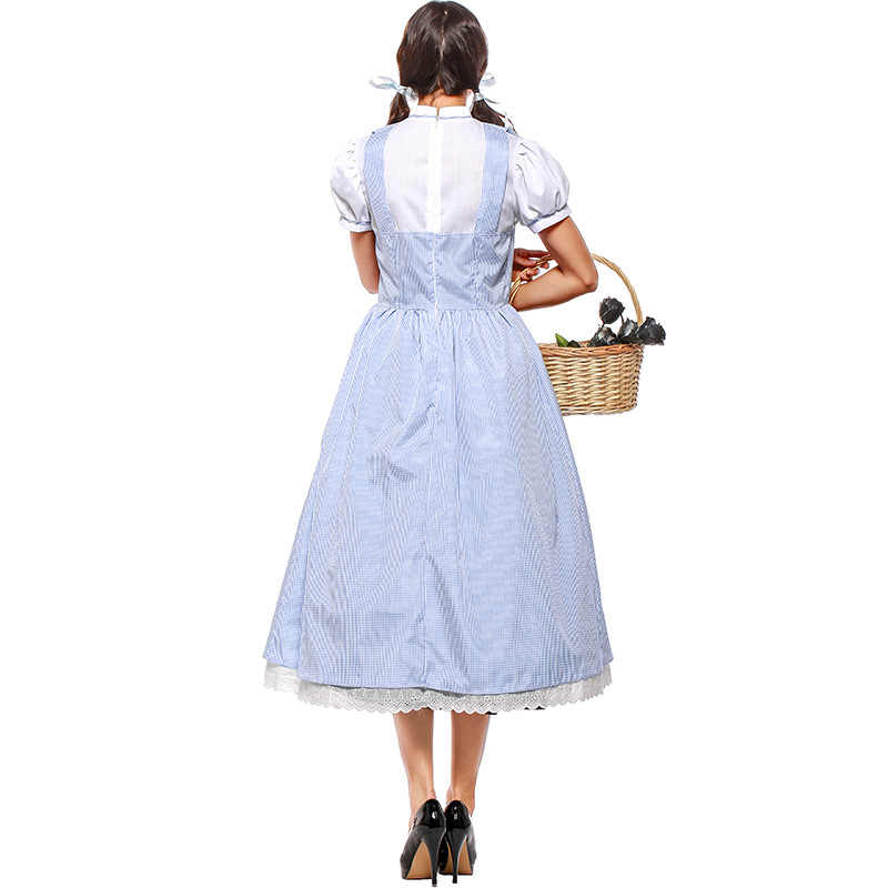 Хлопковое детское платье «волшебник из Амина» Дороти Гэйл; костюмы для косплея для девочек и женщин; костюм для вечеринки на Хэллоуин; большие размеры