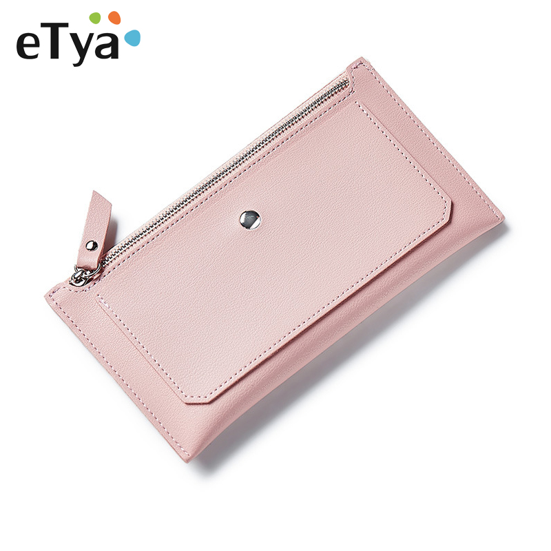 Fashion Women Long Wallet Pu Leather Simple Zipper Purse Clutch Female Money Bag Card Holders Womens Wallets And Purses auau soft leather women wallets bowknot clutch bag long pu card purse wallet for womens rose red