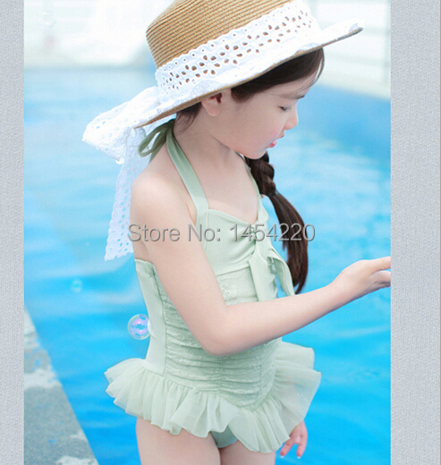 Baby girl swimsuit 2015 two pieces baby swimwear hat lovely summer kids children bikini - Flofallzique Store store