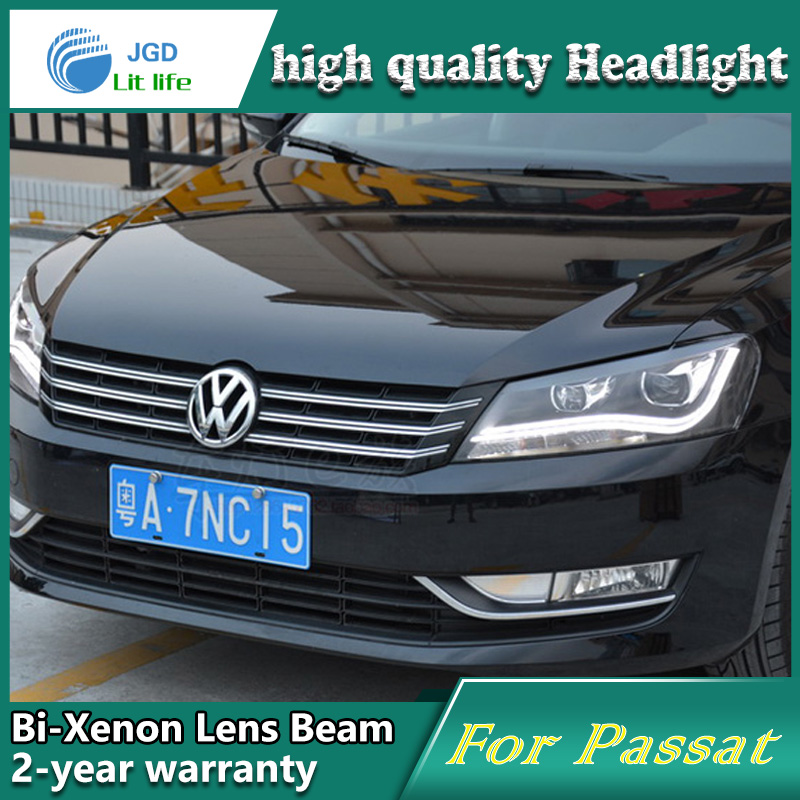 Car Styling Head Lamp case for VW Passat 2011 2012 2013 2014 2015 LED Headlight DRL Daytime Running Light Bi-Xenon HID dongzhen 1 pair daytime running light fit for volkswagen tiguan 2010 2011 2012 2013 led drl driving lamp bulb car styling