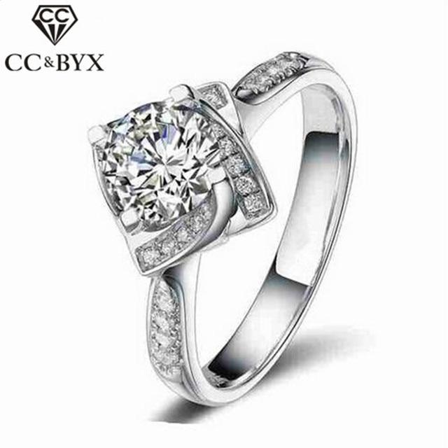 Célèbre Fashion Jewelry Square Shape Flower Rose Design Wedding Engagement  TC73