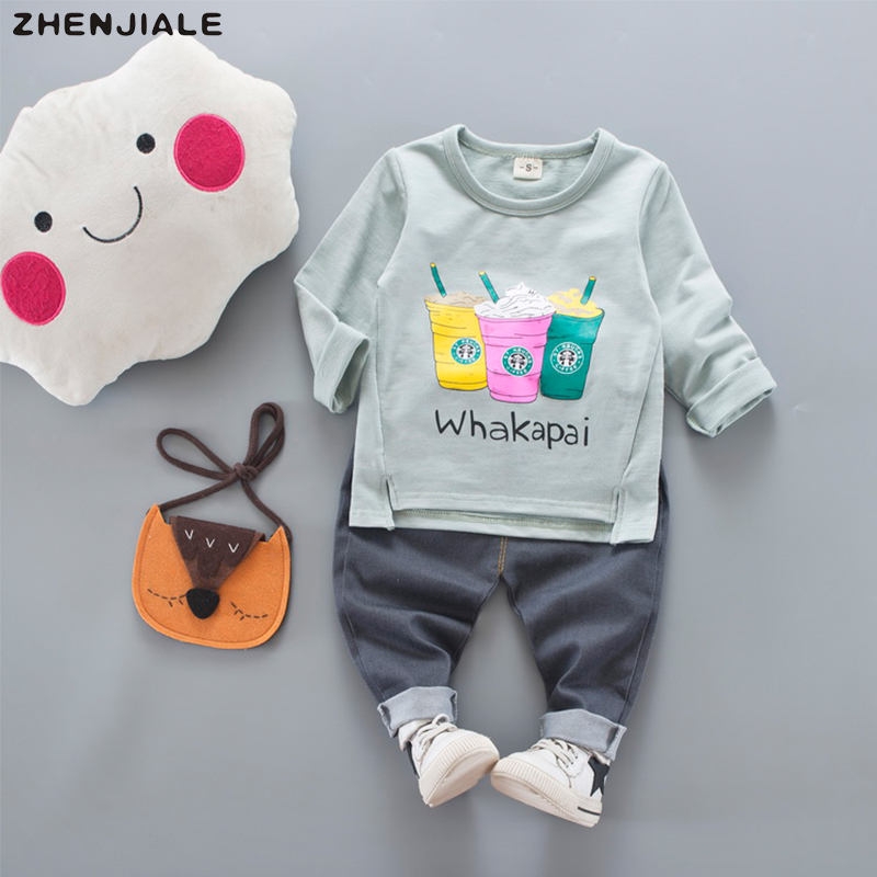 Boys Sports Clothes letter print Kids Clothing Sets Cotton long sleeve+pants Children Clothing suits Girls tops Tracksuits A-44