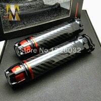 Universal 7 8 Motorcycle Carbon Fiber Handlebar Hand Grips Bar Ends For DUCATI 888 849 851