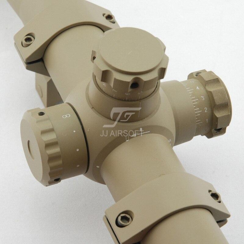 Jj airsoft 3.5-10x40 E-SF ingenio rojo/verde del retículo (TAN ...