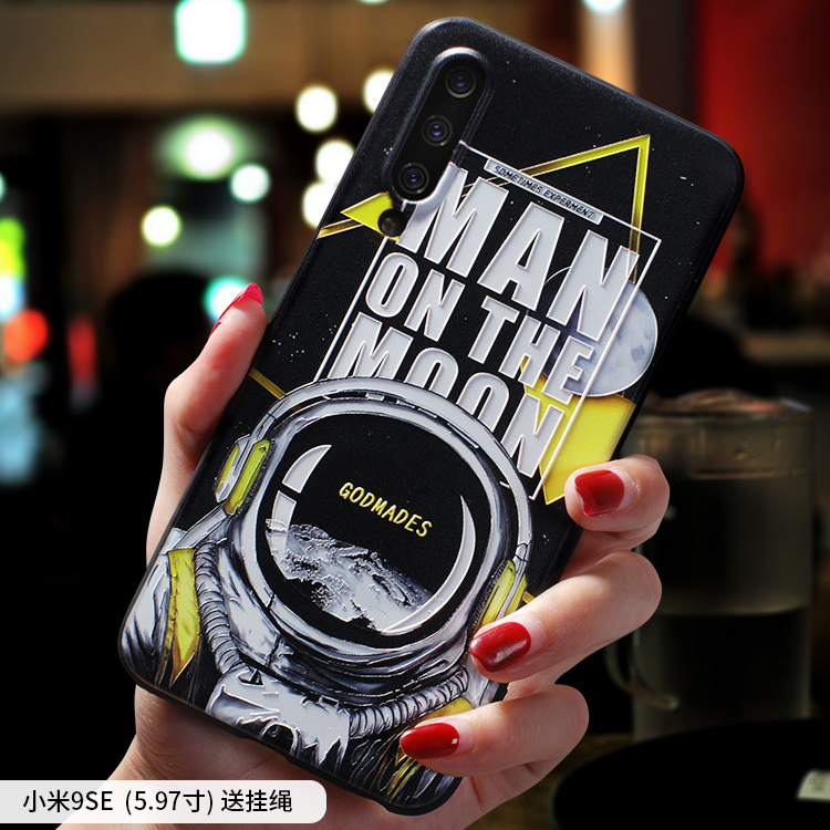 Image 5 - Initial D ,Moon Astronaut ,Smoking warning embossed Relief case For XIAOMI MI 9 MI9 MI9SE MI9 SE MI9Lite A3 CC9 case coverFitted Cases   -