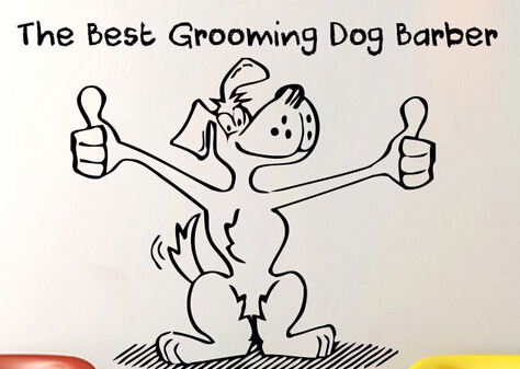 Dog Grooming Salon Vinyl Wall Decal The Best Grooming Barber Words Lettering Pet Shop Wall Sticker Pet Salon Home Decoration