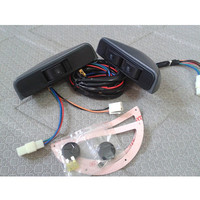 Universal Crescent Style Power Window Switches 12v With Holder And Wire Harness 3pcs