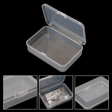 Clear Rectangular Plastic Storage Boxs Square Multipurpose Display Case Coin Collection Box Dropship