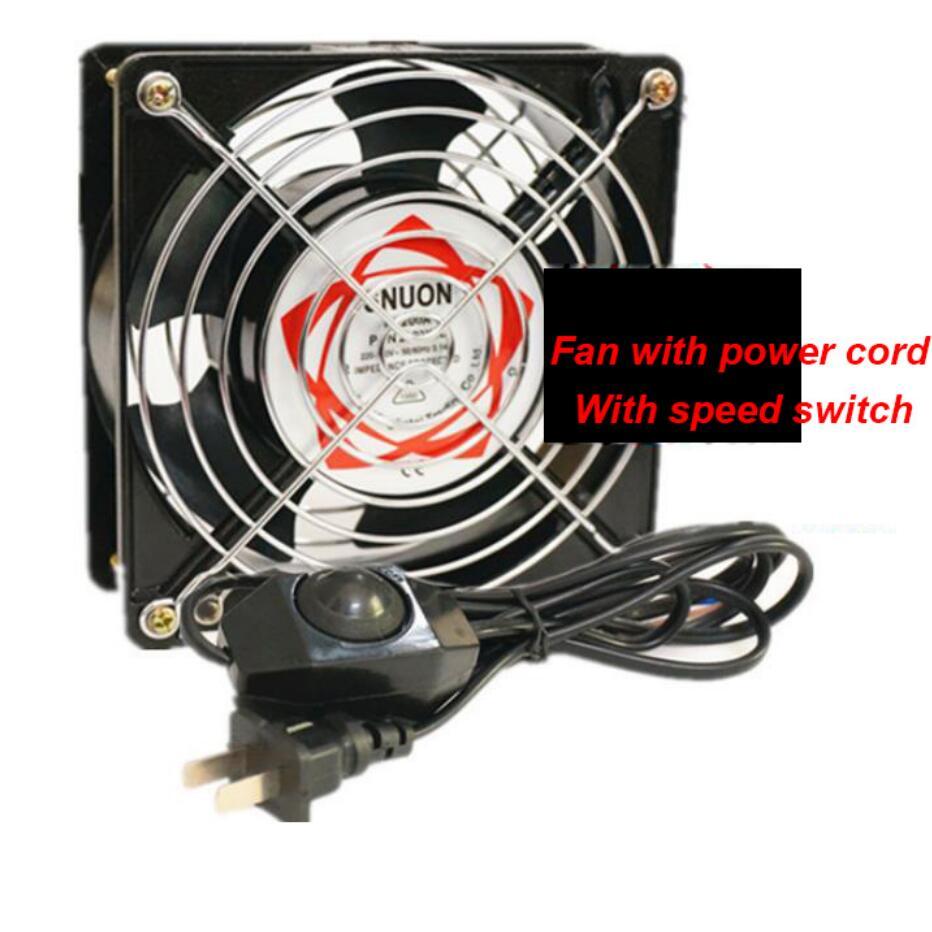 120X120X38mm Ventilator Fan 220-240V Low Noise Axial Fans Cooling Fan Use For Ozonizer Accessories Soldering Tin Exhaust Fan