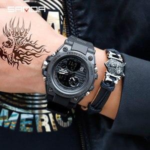 Image 2 - SANDA 739 relojes deportivos para hombre reloj de cuarzo militar de lujo de marca resistente al agua reloj de choque para hombre 2019 masculino