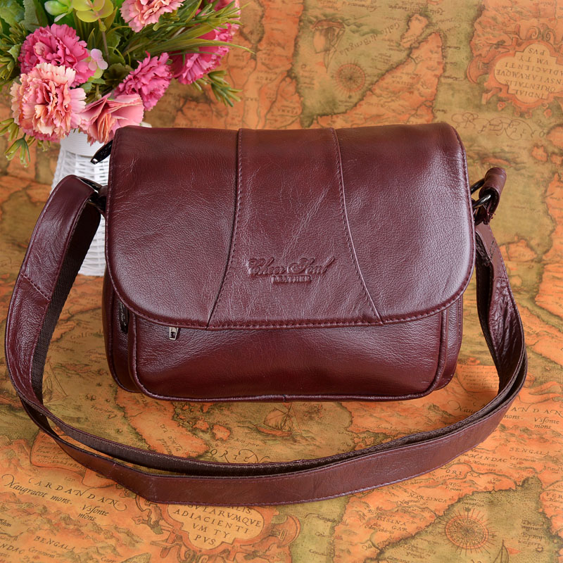 Women 100% Genuine Leather Bag Casual Cow Leather Handbags Women Messenger Shoulder Bags Bolsas Feminina High Quality Phone Bag цена 2017
