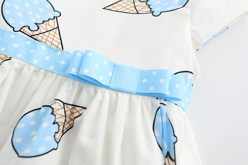 HTB10ziJSXXXXXaqXFXXq6xXFXXXA - Dulce Amor Summer Cute Girls Dress Kids Baby Girls Clothes Short Sleeve Ice Cream Print Princess Dress Kids Dress For Girl