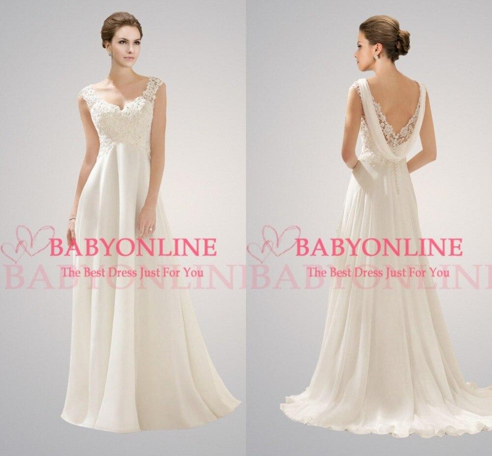 beach wedding dresses open back chiffon beach wedding dress Beach Wedding Dresses Open Back 24