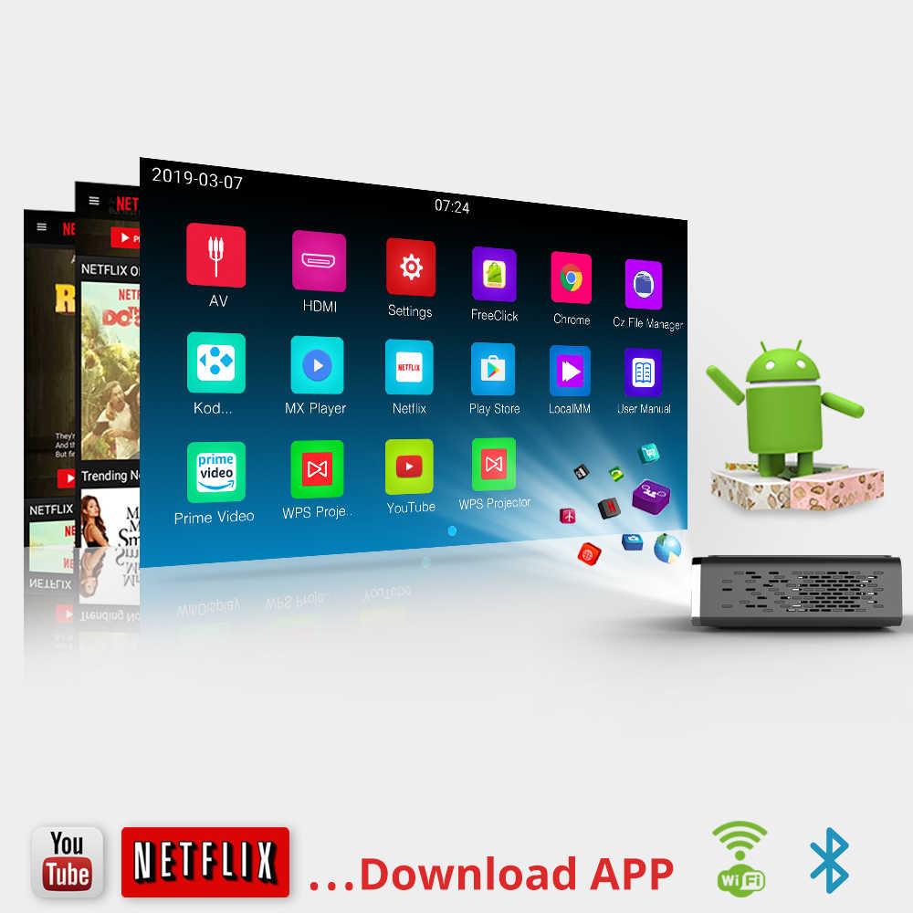 R15 inteligente de 300 pulgadas DLP Android 3D proyector WIFI Video LED Mini portátil para smartphon Full HD 1080P de Teatro en Casa 4K BYINTEK