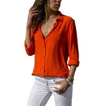 Women's Long Sleeve Solid Color Blouses